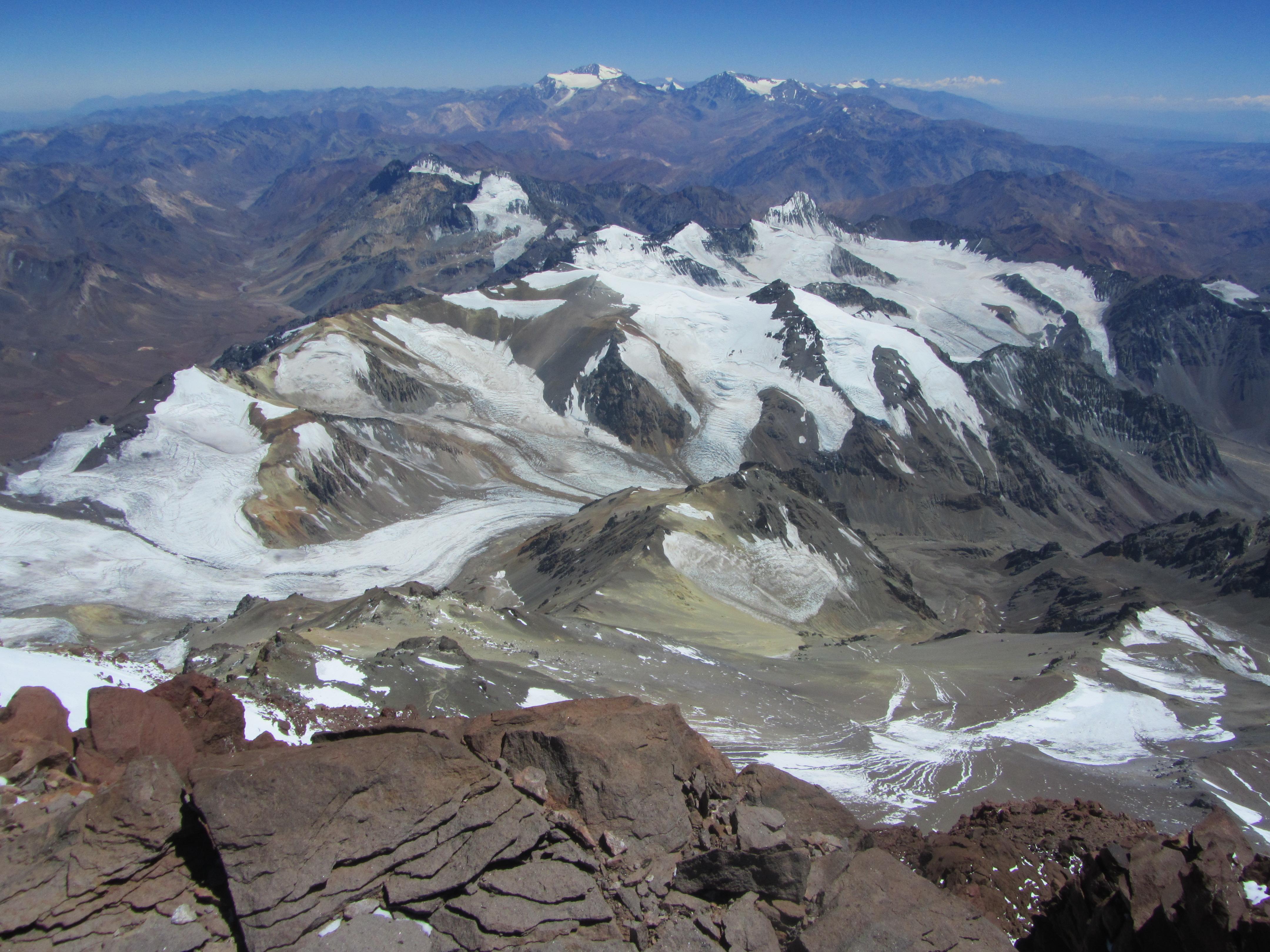 Blick vom Dach der Anden.